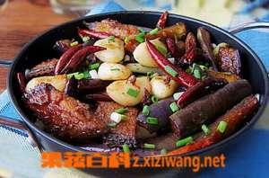 干锅茄子肉片的做法